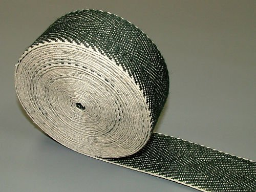 Pandoras Upholstery 33 m Roll Black and White Webbing Supplies, Black