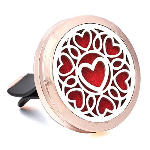 GVRPV Rose Gold Aromatherapy Tree Car Perfume Diffuser Small Box Car Air freshener Ventilation clip-16