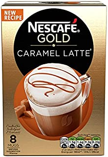 NESCAFé 雀巢 Gold 焦糖拿铁咖啡, 8 包, (6件装, 共 48包)