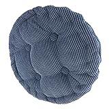 F Fityle 40x40cm Waschbares Stuhlkissen Genua Sitzkissen für Stühle Stuhlauflage Gartenkissen - Denim Blue