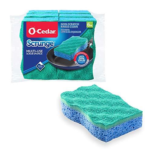O-Cedar Scrunge Multi-Use (Pack of 6) Non-Scratch, Odor-Resistant All-Purpose Scrubbing Sponge...