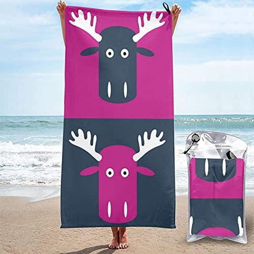 Toalla de baño abstracta linda México Woodsy Elk colorido Poster Microfibra de secado rápido Super Absorbente toalla de playa ligera toalla suave ligera 31.5 pulgadas x 63 pulgadas