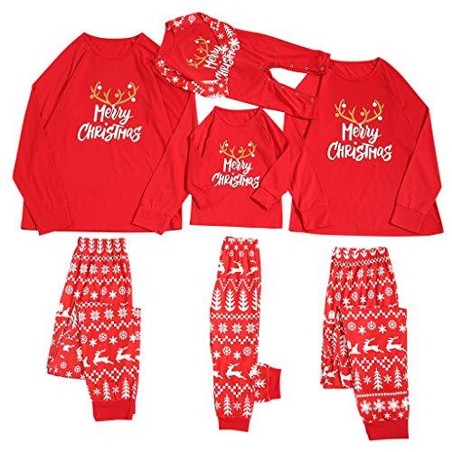 Fossen MuRope 2 Piezas Pijama Familiar a Juego Navidad Merry Christmas' Pijamas Navideños...