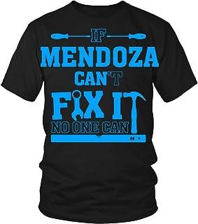 If Mendoza Can`t Fix It, No One Can Family Shirt, Dad Shirt, Mom Shirt 11oz Mugs Black