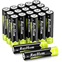 20-Pack RayHom AAA Rechargeable Batteries 1100mAh Ni-MH Battery