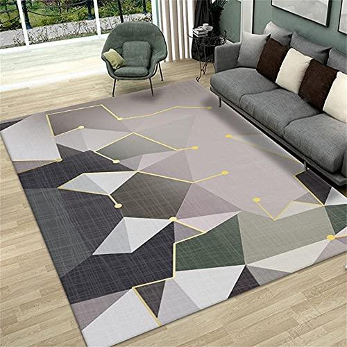 Minimalista anti desgaste Dormitorio Moqueta Gris Alfombra de sala de estar gris irregular geométrico moderno salón alfombra multi-tamaño anti-sucio La Alfombrer 200X300CM alfombra 6ft 6.7''X9ft 10.1'