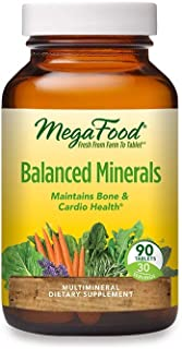 MegaFood, Balanced Minerals, Helps Maintain Bone and Cardiovascular Health, Multivitamin Supplement Vegetarian, 90 Tablets...