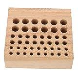 Puzzle Destornillador Herramientas De Perforación Organizador 46 Agujeros Herramientas De Madera Estante Reparación De Relojes