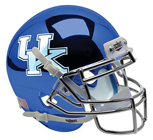 Schutt NCAA Kentucky Wildcats Mini Authentic XP Football Helmet, Blue Chrome Alt. 3