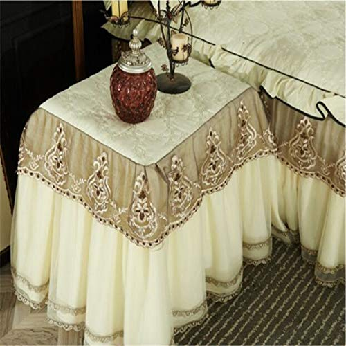 Table Dust Cover Bedside Elegant Table Cover Decorative All-inclusive Lace Table Skirt
