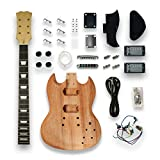 DIY SOLO SG Style Electric Guitar Kits Mapel Neck okoume...