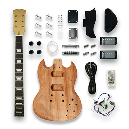 DIY SG Style Electric Guitar Kits Mapel Neck okoume wood Body