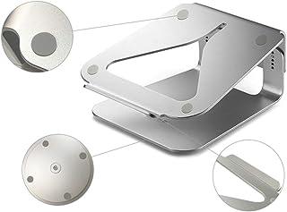 Mesa Soporte para Laptop Altura Vertical De Escritorio De Aluminio Soporte Cervical Radiador Estante De Elevación De Oficina (Color : Silver, Size : 25 * 25 * 8cm)