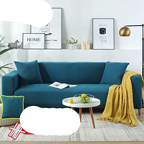 KKDIY Funda de sofá de Terciopelo de Felpa en Forma de L para Sala de Estar, Muebles elásticos, Funda de sofá Chaise Longue, Funda de sofá elástica, 16,1 Asientos, 90-140 cm, 1 Pieza