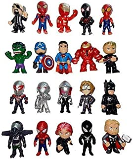 Superhero Mini Action Figures Set of 20 for Boys, Superman Cupcake Topper Figurines for Kids, Ideal for Birthday Party Favors, Children Toys, Collectibles, Gifts, Christmas Cake Decorations Ornaments