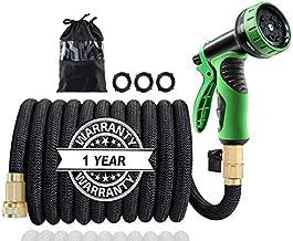50Ft Expandable Garden Hose, Extra Strength 3750D Fabric, Triple Latex Core, 3/4