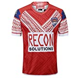 AUUA Maillots de Rugby 2019 Japan World Cup Tonga Football Jersey, Sportswear Training Jersey Polyester Séchage Rapide Respirant, Convient aux étudiants Enfants Adultes-red3-M