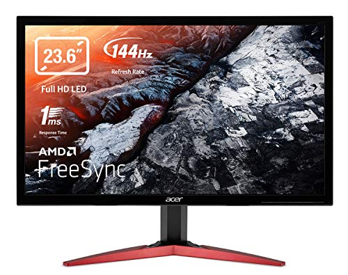 Acer KG241QS Gaming Monitor 23,6 Zoll (60 cm Bildschirm) Full HD, 165Hz OC, 144Hz, 1ms (G2G), 2xHDMI 2.0, DP 1.2, HDMI/DP FreeSync
