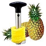 Acciaio inossidabile ananas Corer Peeler 3in 1attrezzo nero