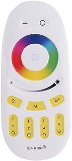 Ymiko Controlador Remoto LED RF, Control Remoto RGBW 2.4G Controlador LED táctil de 4 Zonas Controlador LED atenuador RGB para Bombilla LED Milight RGBW, Tira de luz RGB LED