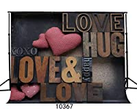 GooEoo 7 x 5フィートの愛ポリファブリック写真背景カスタマイズされたスタジオの背景スタジオの小道具JLT10367