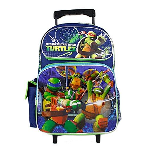 TMNT Teenage Mutant Ninja Turtle Boys 16' School Rolling Backpack Bag
