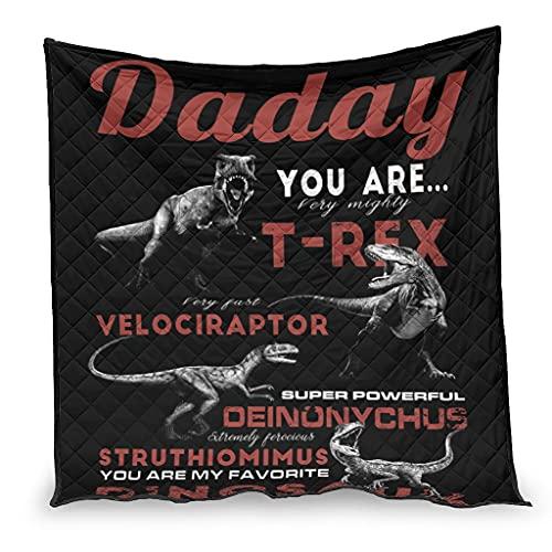 Colcha de verano dinosaurios Día del Padre FAMILIA Manta de microfibra para sofá cama día del padre blanco 180 x 200 cm