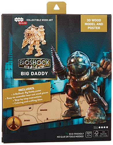 IncrediBuilds: BioShock: Big Daddy 3D Wood Model and Poster