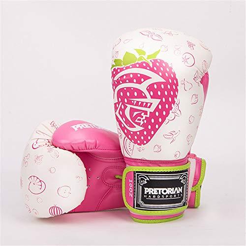 Brasilien Herren Handschuhe Damen Rosa-Boxhandschuhe MMA Training Taekwondo Muay Thai Handschuhe 10 12Oz,Rosa,12oz