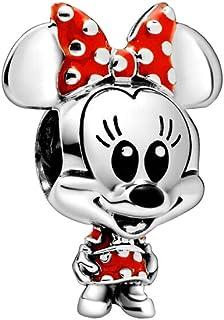 Pandora Disney - Abalorio con diseño de Minnie Mouse y vestido de lunares y lazo