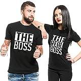 Couple Shirts Pärchen T-Shirts für Zwei Paar Shirts Set Partnerlook T Shirt (Schwarz Herren L)