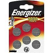 Energizer CR2032 Piles Bouton au Lithium 3 V Batterie – (Lot de 6) Energize 2032BL6 Piles