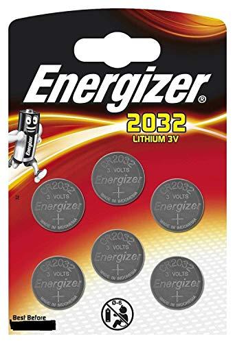 Energizer CR2032 - Pilas de botón de litio de 3 V – (lote de 6) Energize 2032BL6