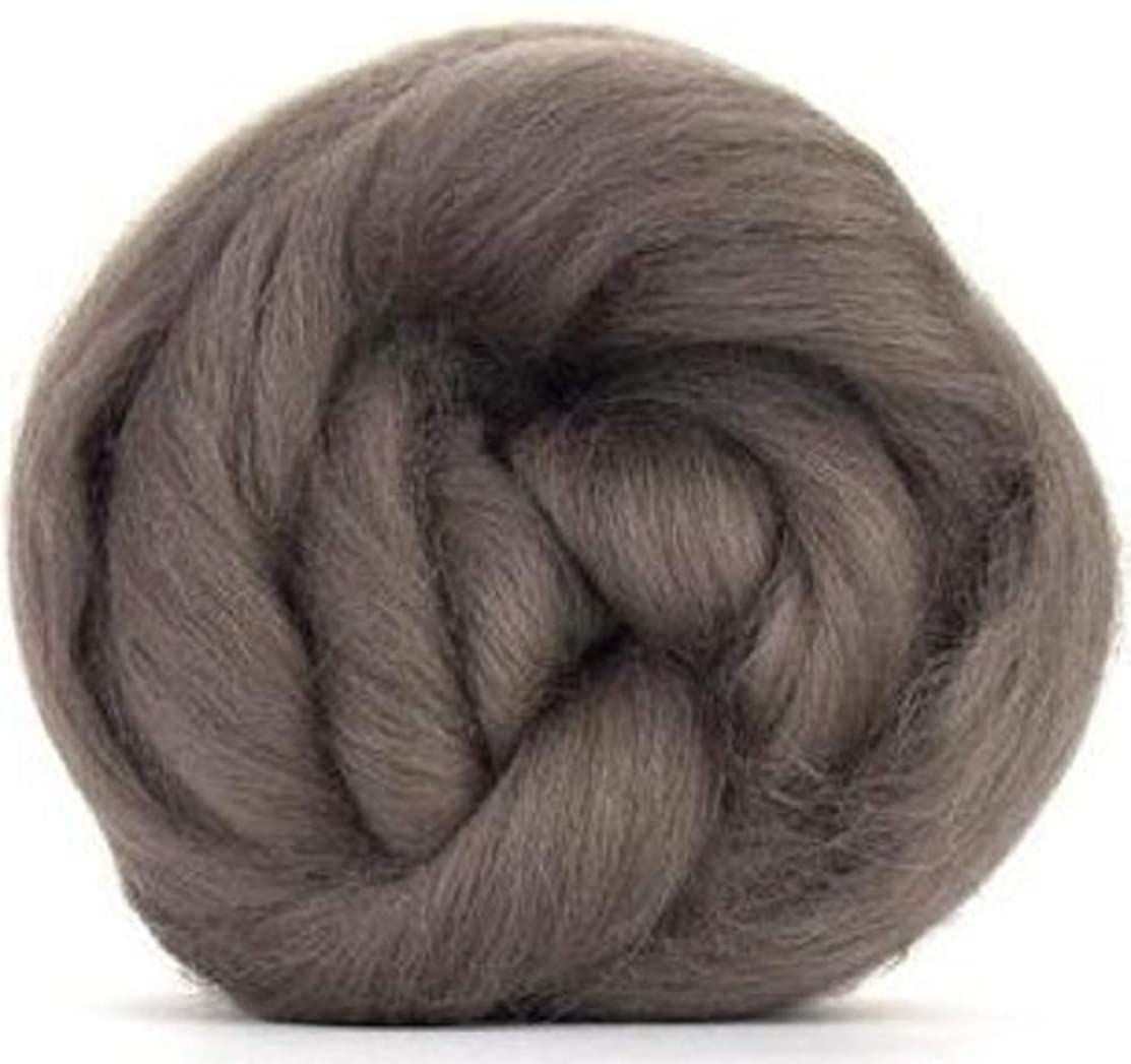 4 oz Paradise Fibers Pewter (Gray) Corriedale Top Spinning Fiber Luxuriously Soft Wool Top Roving for Spinning with Spindle or Wheel, Felting, Blending and Weaving