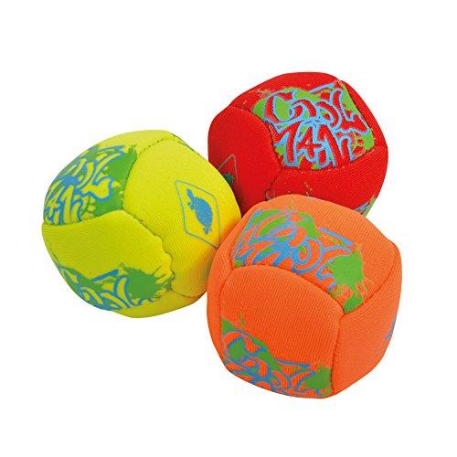 Schildkröt Neopren Mini-Fun-Bälle, 3 Mini Bälle zum Kicken, Werfen, Fangen, Jonglieren, Ø 5 cm, doppelwandig, gefüllt mit Kunststoff-Granulat, 970280
