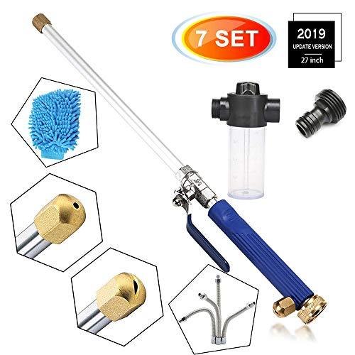 BQT Jet Power Washer Hogedruk-tuinsproeier, opzetstuk voor de tuinslang, flexibel glasreinigingsgereedschap, schuimkanon, autoraam wassen