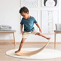 【Body Balancing Exercise】The wobble board is designed for vestibular system and body posture stimulating, kids' balance will be strengthened when they stand on the balance board with a high center of gravity. Any postures toddlers make for balance ke...