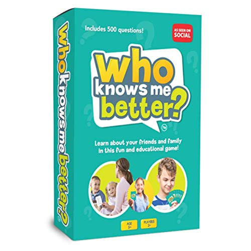 Who Knows Me Better? | Kids & Family Card Quiz Game | Fun & Educational Questions for Children & Families | Suitable For Boys & Girls 5+ Year Olds to Adult | Family Friendly