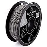 HATCHBOX ABS 3D Printer Filament, Dimensional Accuracy +/- 0.03 mm, 1 kg Spool, 1.75 mm, Gray