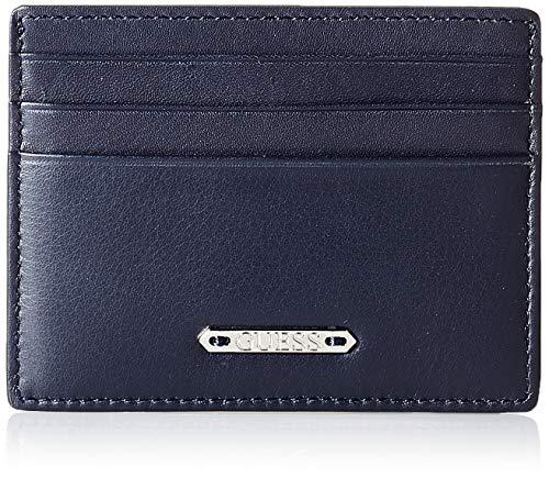 Guess Tyler Card Case, Accesorio de Viaje-Portatarjetas Tipo sobre para Hombre, Azul,...