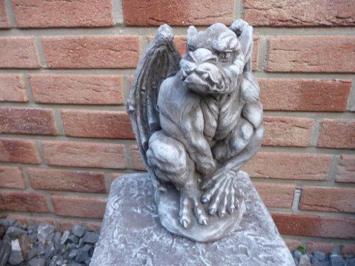 Gartenfigur Gargoyle Figur Steinfigur für Garten Deko Fantasiefigur