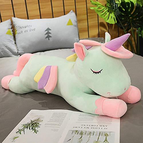 JMKHY Unicorn Plush Toys Animal Unicorn Dolls for Children Boys Birthday Gifts Baby Toy Christmas-50cm_no_zipper_Green