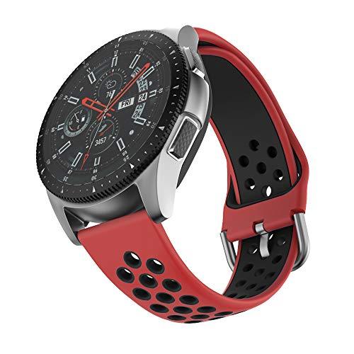 ISABAKE Correa de Reloj de 22 mm Compatible con Galaxy 46 mm, Gear S3 Frontier/Classic, Fossil Gen 5 / Men's Gen 4 / Women Gen 4, Garmin Vivoactive 4 Correa de Reloj de Silicona de liberación rápida