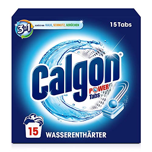 Preisvergleich Produktbild Calgon 3-in-1 Power Tabs Wasserenthärter gegen Kalkablagerungen und Schmutz in der Waschmaschine Beugt unangenehmen Gerüchen vor 1 x 15 Tabs