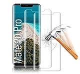 Shalwinn Schutzfolie Panzerglas folie [2 Stück] für Huawei Mate 20 Pro, 3D Vollständige Abdeckung/HD 9H Festigkeit/Anti-Kratzer/Hohe Empfindlichkeit/Hüllenfre&lich/Anti-Bläschen Panzerglasfolie
