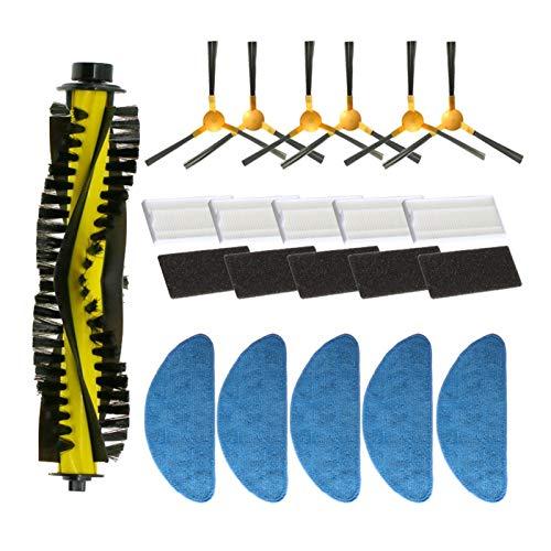 MeiZi Spazzola Laterale + Filtro + MOP + Pennello a rulli Adatto per Neatsvor X500 / X600 Robot Aspirapolvere Accessory Kit di Ricambio (Color : C)