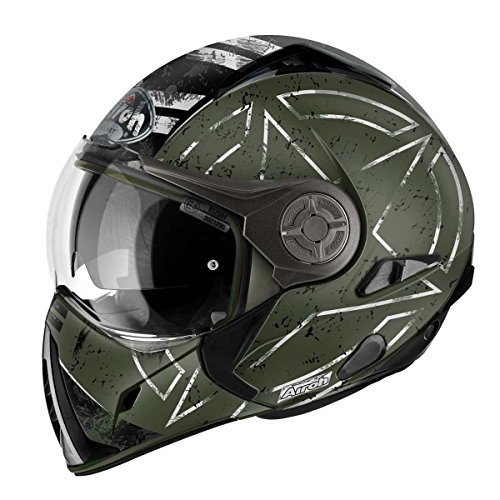 Airoh Motorrad Helm J106, Command Grün, 60 cm