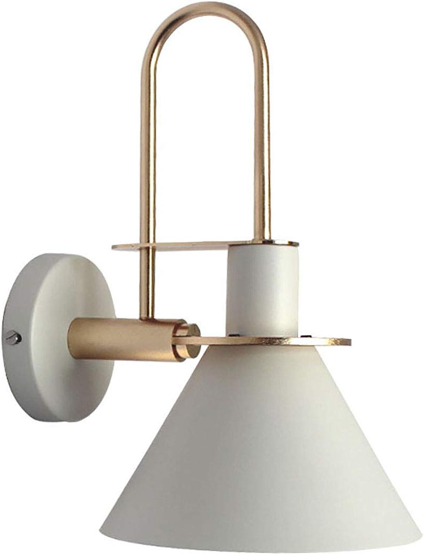 Modern Designer Wandleuchte aus Metall E27 Wei  Innen Wandlampe Nachttischlampe Spiegelleuchten Leseleuchte  Beleuchtung für Treppen Schlafzimmer Flur Esszimmer Window Waschraum