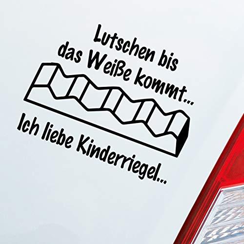 Auto Aufkleber in deiner Wunschfarbe Lutschen bis das Weiße kommt Ich Liebe Kinderriegel 11x10 cm Sticker Folie