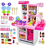 deAO My Little Chef Kitchen Playset Role Playing Game with Touchscreen Panel, Water